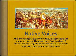 native voices after annotating passages from native american  native voices