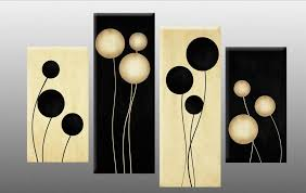 large black and cream abstract canvas picture wall art split multi 4 panel set in art canvas giclee prints ebay  on black and cream wall art uk with large black and cream abstract canvas picture wall art split multi 4
