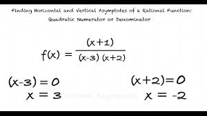 topic finding horizontal and vertical asymptotes of a rational function quadratic