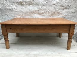 pine coffee table. Old Pine Coffee Table - Vintage