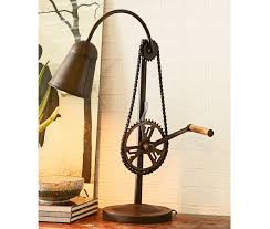 Indian Hub Cycle Chain Standing Table Lamp