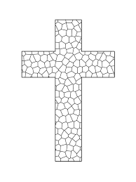 Stained Glass Cross Printable Coloring Sheet Sunday School Cross