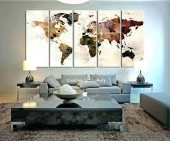extra large metal wall art extra large abstract metal wall art horizontal map canvas print rustic