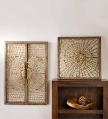 on brown framed wall art with rattan wall decor wayfair
