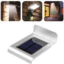 lemonbest waterproof 24 led solar powered motion sensor light wall mount lamp night light for outdoor garden patio path gutter fence