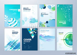 Set Of Brochure Annual Report Flyer Design Templates In A4 Size