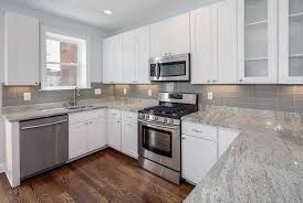 Backsplash Subway Tile White Cabinets The Home Redesign Chic Classy White Cabinets And Backsplash Collection