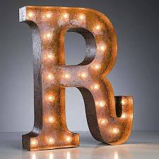 24 marquee letter lights 24 letter r lighted vintage marquee letters rustic 2 v=