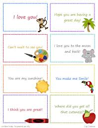 Printable Note Cards Cap Creations Free Printable Lunchbox Note Cards