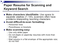resume keyword search paper resume for scanning and keyword search resume  keyword search engine