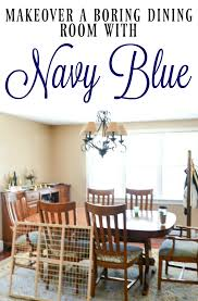 navy blue dining rooms. This Is An Amazing Dining Room Makeover With Navy Blue Walls And Fabulous Wood Accents. Rooms L
