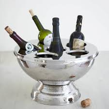 hammered champagne and wine bucket by primrose  plum