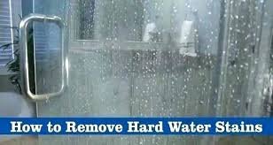 hard water stain remover shower door how to clean gl doors