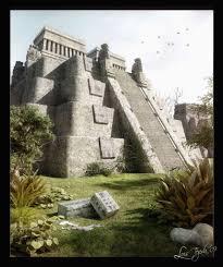 ancient aztec public works aztec pyramid by luis tejeda 3d artist