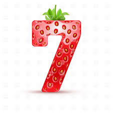 Number 7 Vector Clipart