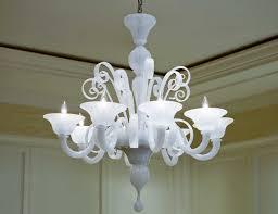 chandeliers white murano 8