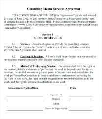 Consulting Contract Template Free Download Free Consultant Contract Template Master Consulting