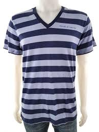 Details About Moods Of Norway Mens Usa Size M Blouse Sleeve Short Logo Stripes Blue Cotton 100
