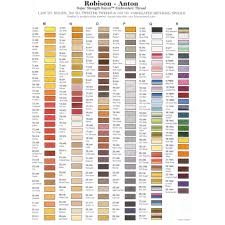 Robison Anton Color Chart Robison Anton Rayon Embroidery Thread 1100 Yards 1000 Metres