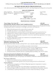 Human Resource Entry Level Resume Sample Human Resources Resume