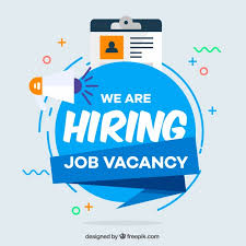 Premium Vector | We are hiring background in flat style