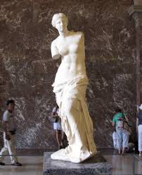 another of the most famous works of art in the louvre museum is winged victory of samothrace this is a greek sculpture of the dess nike victory