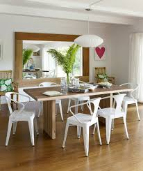 rustic dining rooms ideas. Dining Room Set Up Ideas Enchanting Decor Rustic Table White Chairs Wall Mirror Plant Rooms