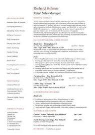 Retail Sales Resume Resume Retail   sample resume format