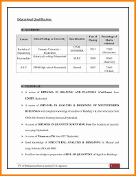 Related For 5+ educational qualification in resume