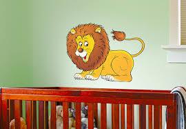 cute lion wall decal a friendly decor sticker
