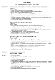 Supply Chain Procurement Resume Samples Velvet Jobs