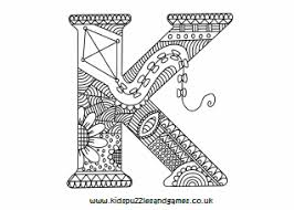 Select from 35478 printable coloring pages of cartoons, animals, nature, bible and many more. Letter K Kids Puzzles And Games
