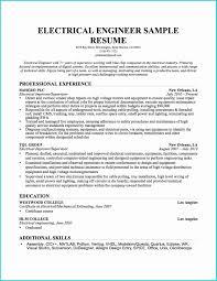 Electrical Engineering Sample Resume Nguonhangthoitrang Net