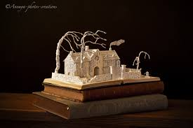 wuthering heights book sculpture by karinediot on  wuthering heights book sculpture by karinediot