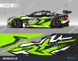 Design Racing Race Car Wrap Design Vector Graphic Stock Vector Royalty