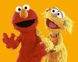 Zoe and elmo goes to the hooper's store to find red colour fruit. Zoe Sesame Street Muppets Street Kids Sesame Street