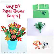 Paper Flower Bouquet In Vase 3d Paper Flower Bouquet Craft For Kids Crafty Morning