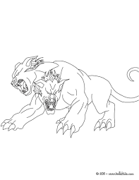 Kleurplaat Orthros The 2 Headed Dog Coloring Page Color 3