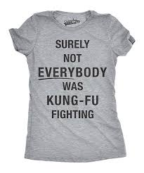 Zulily Size Chart Crazy Dog Heather Gray Kung Fu Fighting Fitted Tee Women