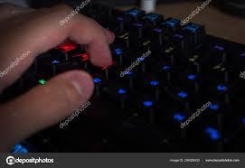 The Lighting Guy Gaming Keyboard Rgb Lighting Guy Having His Hand Gaming