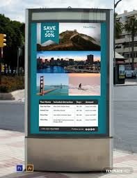 Free Signage Template Free Travel Deals Digital Signage Template Psd