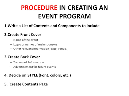 Create A Programme For An Event Employing Sales Promotion Activities To Inform Or Remind Customers