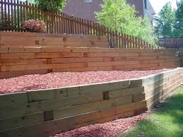 Cover A Wood Retaining Wall Farmhouse Design And Furniture