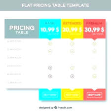 Microsoft Word Price List Template Pricing Table Word Microsoft Style Templates