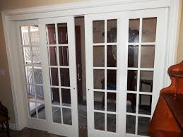 breathtaking white sliding interior double doors with glass and antique standing clock idea