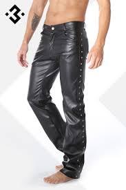 heren leather look broek