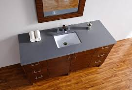photo 1 of 9 60 bathroom countertop 1 abstron 60 inch walnut finish single sink modern bathroom vanity countertop