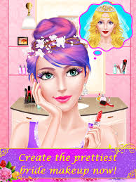 celebrity wedding salon bridal beauty makeover spa makeup dress up game for