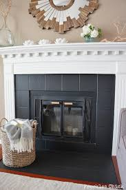 fireplace tile mini facelift with paint diyfireplacetile diyfireplaceupdate diytile