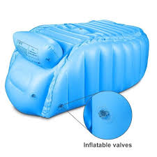infant baby newborn inflatable bathtub swimming pool kid bath seat toddler non slip bathing tub travel air cushion bed babies shower portable comfort safety